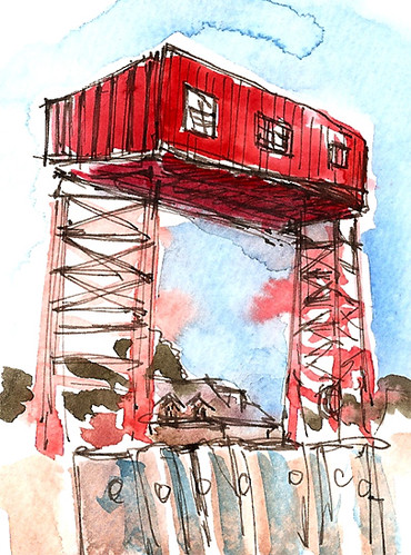 Sketchcrawl 24: Governors Island Ferry Dock