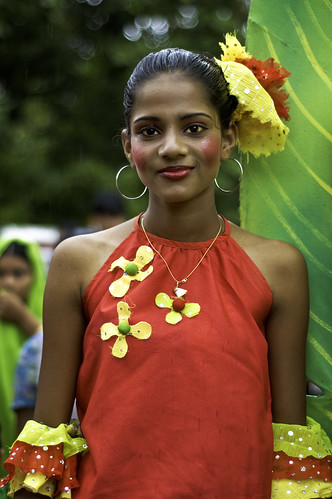 Miss Goa 2009 ! Portrait of a colorful girl at Bonderam in August 2009.