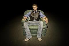Night Chair (Bjorn Hanson) Tags: people night golf chair nikon hdr nikond40x d40x