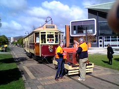 Tram test at Launceston Tramway Museum