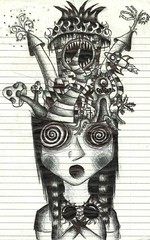 Imagine.. (bunni[gasm]) Tags: hello life black hot silly cute castle love beautiful grave monster night dark fun mushrooms happy weird cool scary funny pretty heart random drawing awesome acid emo goth dream excited scene calm lsd odd doodle drugs gore laugh horror rave rocket scared mad trippy immature dreamer epic twisted blades frustrated extacy spontanious
