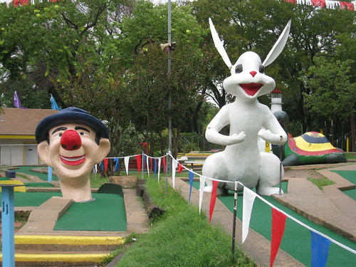 Miniature Golf Clown and Rabbit