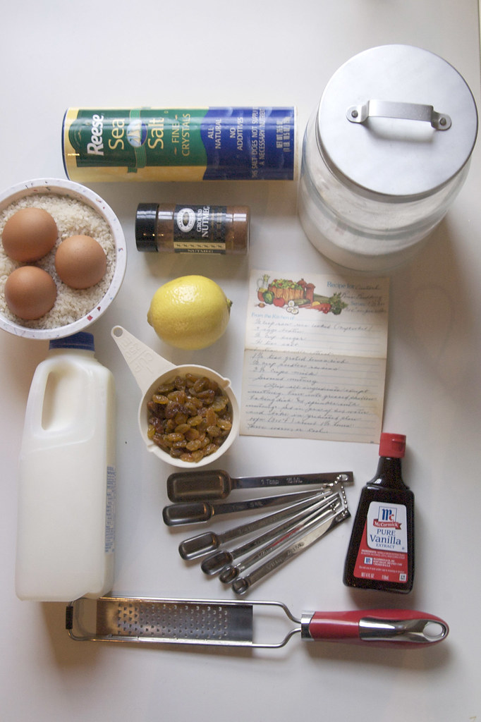 how to make rice custard