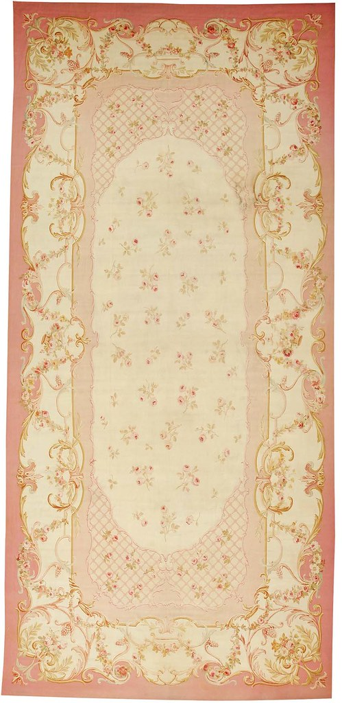 Aubusson French Rug #43634 by Nazmiyal Collection