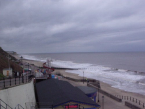 The sea and beach at Cromer - video clip