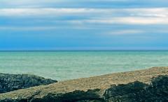 Seascape_1 (Peter KC Ho Photographics) Tags: ocean blue sunset sea wallpaper sky cloud lake seascape abstract green art beach lines rock clouds print landscape dawn geometry horizon fineart decoration angles layers decor subtle peterkcho