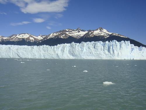 Vista del glaciar desde el barco