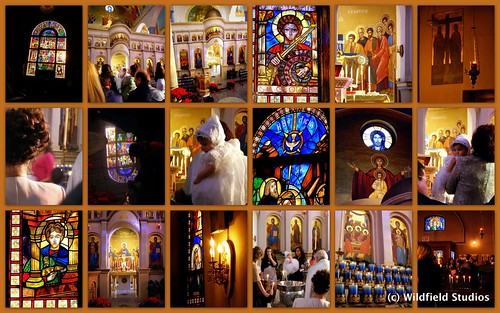 Greek Orthodox Christening Collage