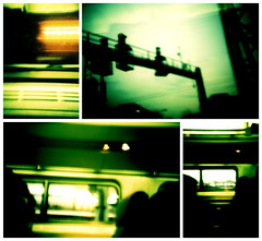 5:28 to Richmond (Soda Press) Tags: film train 35mm virginia dc washington lomo lca xpro fuji richmond crossprocessing provia rva recomposition tetraptych