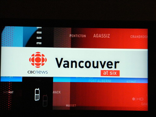 Camera shots of CBC HD from my homemade OTA DTV antenna