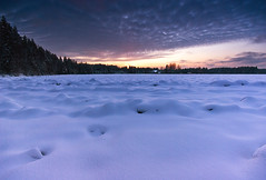 Smooth Snow II (Joni Niemel) Tags: winter sunset sky snow cold clouds finland pentax smooth freeze aficionados sigma1020mm bej k10d pentaxk10d