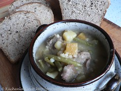 ©Hearty lamb & barley soup