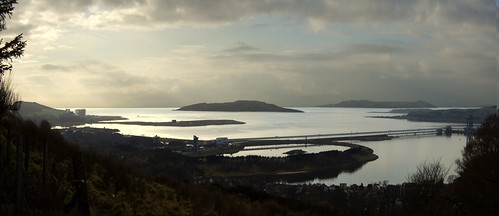Clyde panorama from above Fairlie 26Jan09