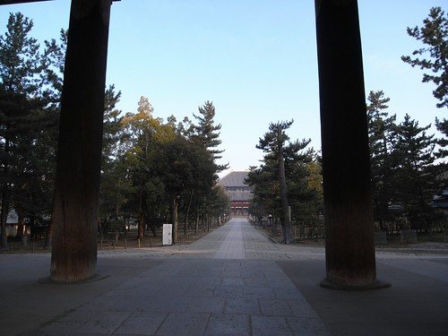早朝の東大寺(南大門周辺)-11