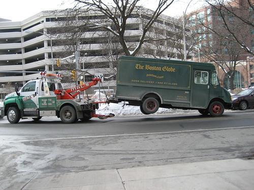 Boston Globe truck