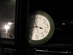 Il tempo passa... (jajopo) Tags: white black reflection verde green clock dark time ora orologio nero 340 scuro 345 riflessione