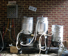 Homebrewing - a bit of a mad scientist look (shyzaboy) Tags: beer brewing pump kettle rims homebrew brew homebrewing mashtun hotliquortank