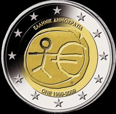 2 Euro Grécko 2009, HMÚ
