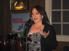 @KerryMP (Kerry McCarthy MP) speaking at the Bristol Twestival (DanMartin1) Tags: bristol thelanes charitywater twestival bristwestival