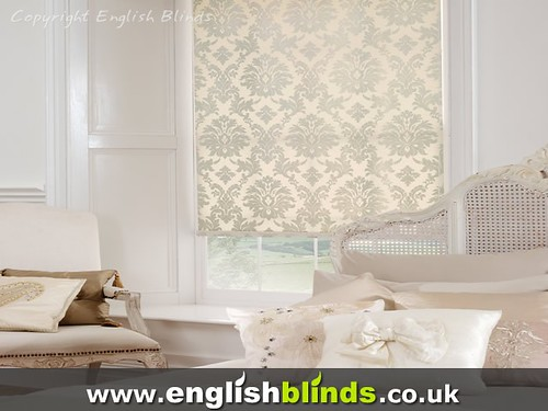 Traditional patterned fabric window blinds - a photo on Flickriver