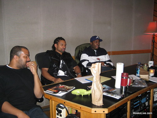Carmouche, Big Boi & Bosko working on lyrics