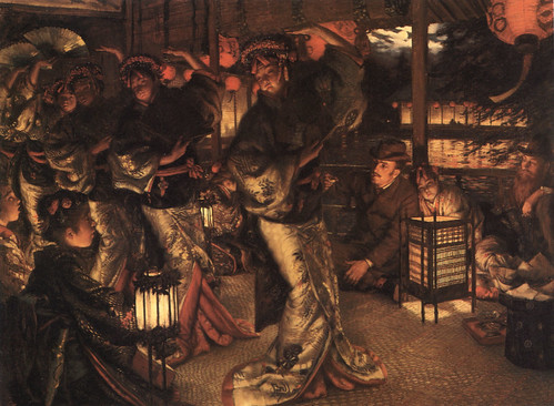 James Jacques Joseph Tissot (1836-1902) The Prodigal Son in Modern Life- In Foreign Climes-Oil on Canvas c 1882 Muse?e de Nantes, France