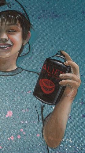 """Detalle canvas """"Writer Kid"""""""