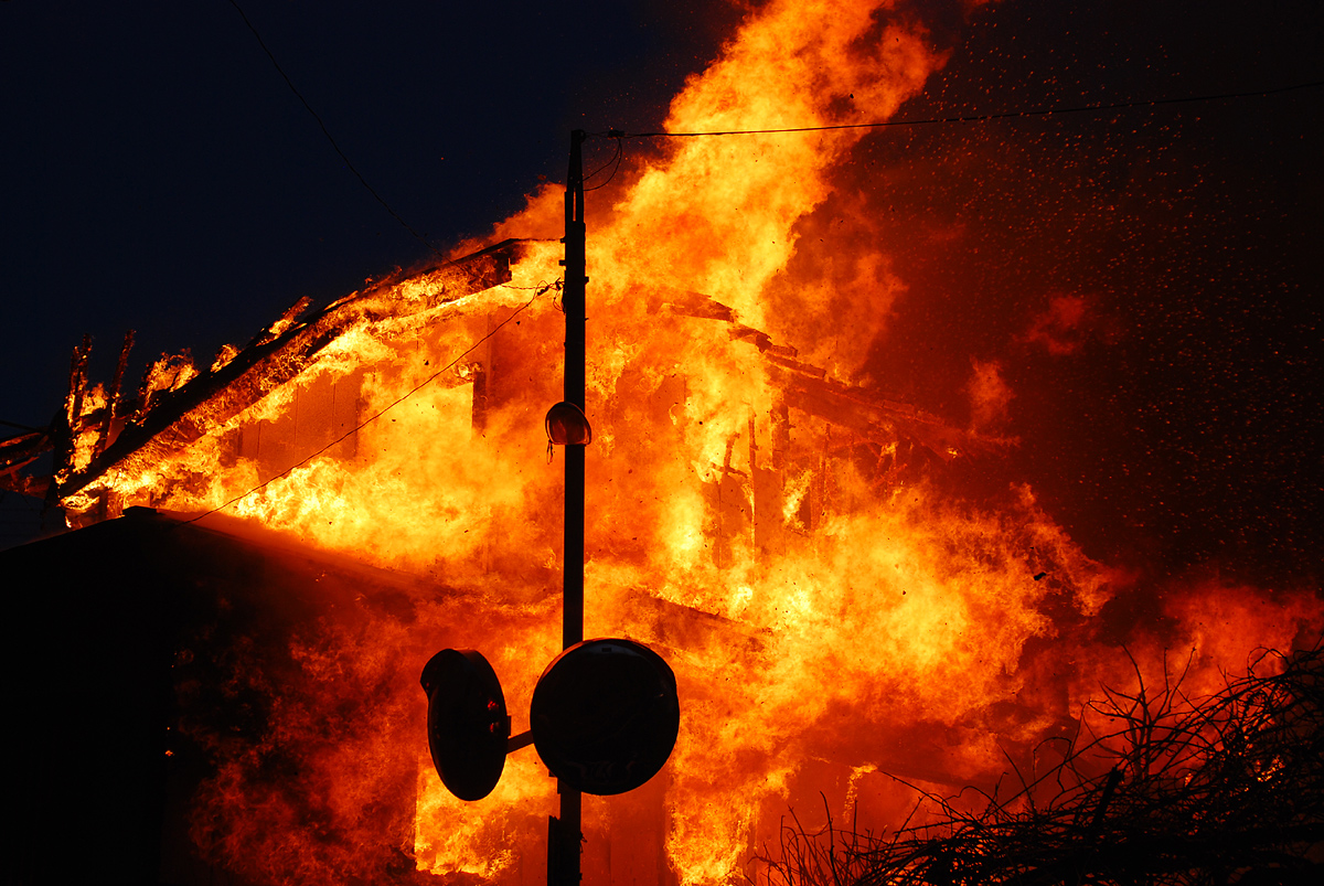fire 2009-02-28 at jyoetsu city, niigata