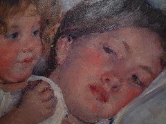 Cassatt, Breakfast In Bed, detail with faces