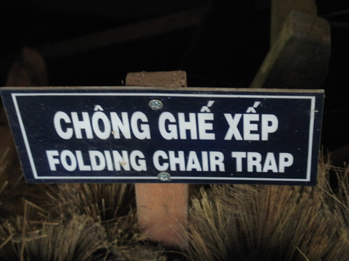 Careful! Vietcong Folding Chair Trap.