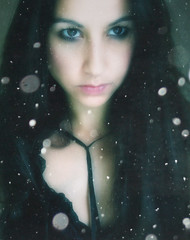 The Witch (sole) Tags: portrait snow black look intense eyes witch mystical latina brunette wicca solea carmengonzalez