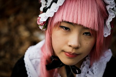 Cosplay Girl 11 (DSLR_MANIA) Tags: pink costumes eos costume play gloomy cosplay makeup korea exhibition wig seoul cosmetics southkorea unhappy canonef100mmf28usm ef100mmf28usm atcenter eos1dmark3 canon1dmark3 dslrmania canon1deos1d colorlenses