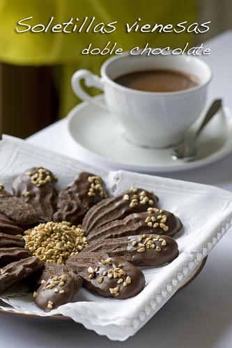 Soletillas vienesas con doble chocolate