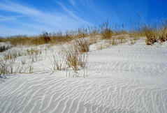 Enjoying the natural beauty of the big, blue sky and sandy beaches of Atlantic City! (Clara Hinton) Tags: blue seascape nature bluesky atlanticcity jol atlanticcoast bythesea awesomeshot beachsand blueribbonwinner brigantinenj swirlingsand beautifulexpression golddragon newjerseybeach concordians clarahinton paololivornosfriends
