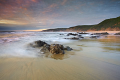 Point Reyes Light (PatrickSmithPhotography) Tags: ocean california travel sunset sea wallpaper vacation usa seascape beach nature rock canon landscape sand marin wave marincounty 5d pointreyes lowtide mkii 1740l mcclures frhwofavs 5dmkii
