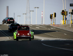 The italian job. (Denniske) Tags: red verde green car club digital canon eos 22 march is italian groen dof belgium image fiat bokeh dcc wide dream belgi meeting roadtrip 03 east 09 be l 28 mm 500 grn dennis breed job lamborghini ghent gent 70200 2009 meet f28 ef lam verte flanders cinquecento murcielago ithica lambo noten oostvlaanderen carspotting stabilizer rondrit llens stabilisation ovl murcie 40d denniske dennisnoten