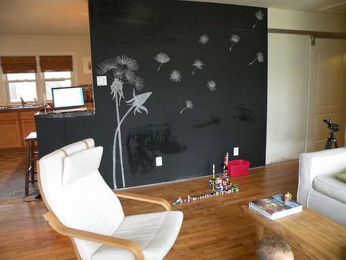 chalkboard wall da Nicole Adrianne.
