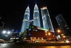 KLCC (Earth Hour Day) (DELLipo) Tags: street city longexposure travel light urban favorite architecture night photoshop dark lights office nikon nightshot tripod wide wideangle explore malaysia slowshutter kualalumpur dslr capture tamron klcc finest global lightmagic wilayahpersekutuan d80 1024mm earthhour