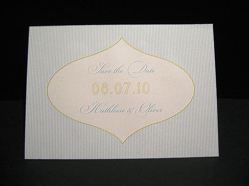 Tangiers Letterpress Save The Date