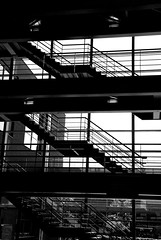 Stairs and bridges (Just a guy who likes to take pictures) Tags: bw en white black holland blanco haarlem netherlands monochrome lines architecture modern stairs floors und europa europe university floor y zwartwit negro nederland thenetherlands holanda zwart wit weiss paysbas fachhochschule trap schwarz sciences architectuur niederlande applied zw trapp the trappe in etage trappen weis hogeschool universityofappliedsciences inholland etages verdiepingen