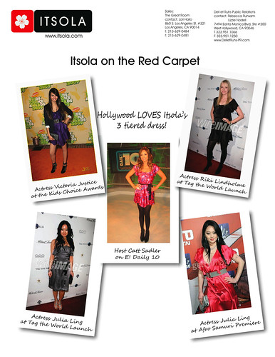 Itsola on Red Carpet