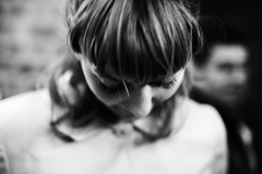 Almost Lost (Ronan THENADEY) Tags: portrait blackandwhite bw blur paris girl bar canon 50mm noiretblanc poetic romantic lovely fille flou bistrot sagesse kylesa soumission almostlost f12l ronanthenadey 5dmarkii repenti quitude ptitgarage