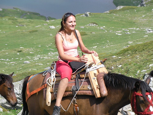 Pony Treking Up From Top Lift Station To 7 Rila Lakes
