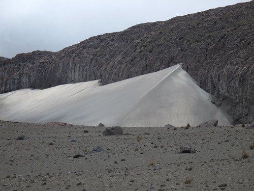 Sand dunes on Nevado del Ruiz