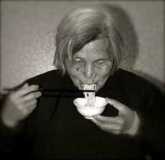 Ninety Two Year Noodles... (China Lost and Found) Tags: china birthday portrait woman asian nikon shanghai d70 grandmother mother elderly experience elder noodles aged greatgrandmother elegance memorycornerportraits chinalostandfound