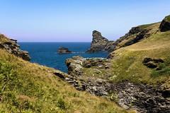 Rocky Cove (doublejeopardy) Tags: sea rock coast cornwall cove north rocky tintagel kartpostal