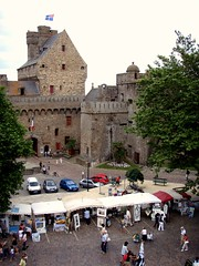 Market inside the walls of St Malo