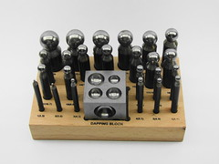 26 Piece Doming Punch And Dapping Block Set