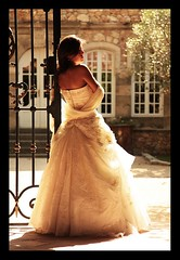 MARIAGE / WEDDING : The Dress (Sebastien LABAN) Tags: wedding portrait white love face composition hair eyes cotedazur dress ceremony mariage shoulder glance 83 var sud straphael saintraphael haircutlook freijus