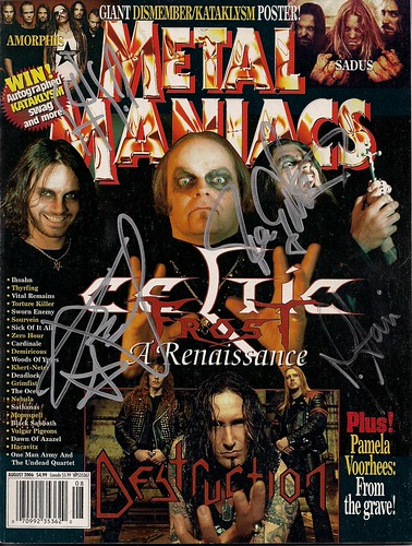 09/24/06 Celtic Frost @ Minneapolis, MN (Autographed Metal Maniacs Magazine)